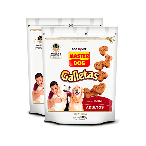 Pack galleta Masterdog 500gr x2